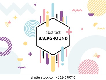 colorful abstract pattern on white background.