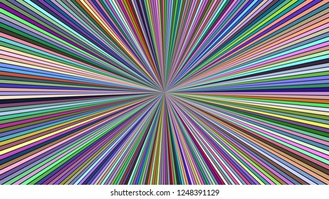 Colorful abstract psychedelic speed concept background - vector ray burst illustration