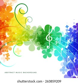 Colorful abstract rainbow background for your design