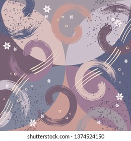 Colorful abstract scarf pattern design for hijab fabric textile