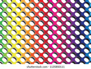 Colorful abstract with shadow background