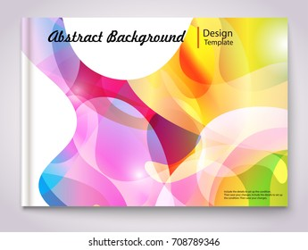 Colorful abstract shaped layout - EPS10 Design.