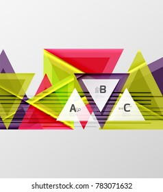 Colorful abstract shapes background. Minimalistic design