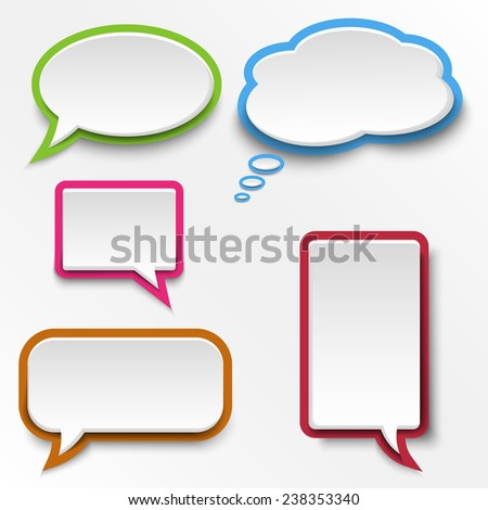 colorful abstract speak bubbles template stock vector royalty free