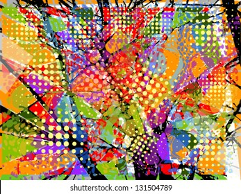 Colorful abstract. stained-glass window