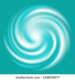 Colorful Abstract swirl gradient background in Deep sea themed : Teal, light teal and white in square.