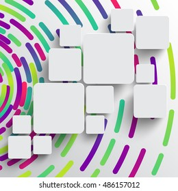 Colorful abstract template for advertising, vector