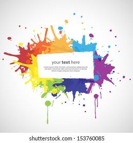 Colorful Abstract Text Frame