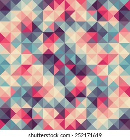 Colorful abstract vector illustration: triangular geometric low poly graphic background