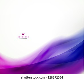 Colorful abstract wave design template