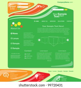 Colorful abstract web site design template, vector