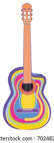 Colorful Acoustic Guitar