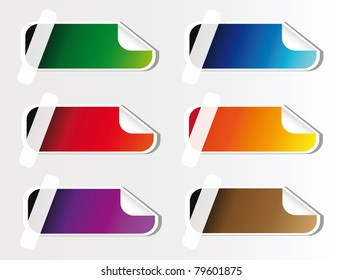 colorful advertising sticker isolated over white background, you can put here your own text