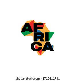 Colorful africa map logo design template