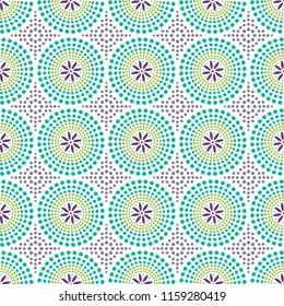 Colorful african shweshwe pattern