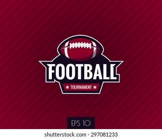 colorful american football logo label. Vector illustration.
