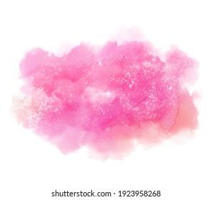 Colorful aqua liquid abstract scribble wallpaper, vivid label, scrapbook. Pink colour hand drawn paper texture watercolor vector splash, grunge bright design background