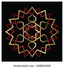 colorful arabic geometric ornament
