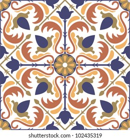 colorful Arabic style tiles - seamless pattern