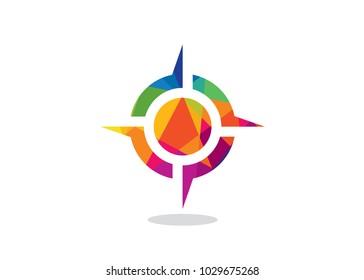 Colorful Arrow Point Logo Design Template, Element Design, Vector Design