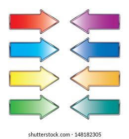 Colorful arrow set.