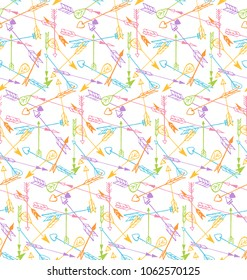 colorful arrows seamless pattern? vector background