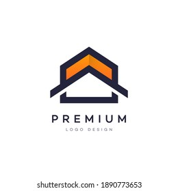 Colorful attractive gradient style home or house real estate property business vector logo design symbol for your brand and company