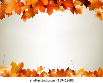 Colorful autumn leaves falling and spinning. And also includes EPS 10 vector