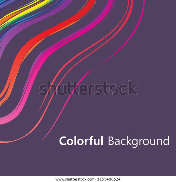 Colorful Background Abstract Design Vector Creative Stock