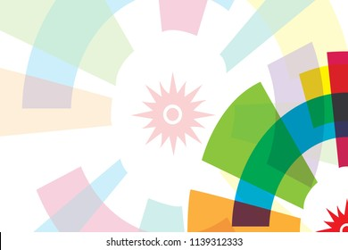 Colorful background for Asian Games 2018