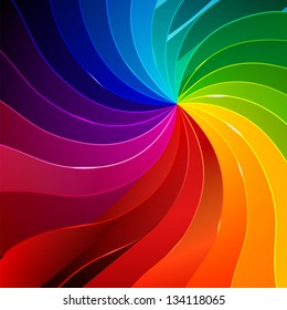 Colorful background with book pages rainbow for your web design
