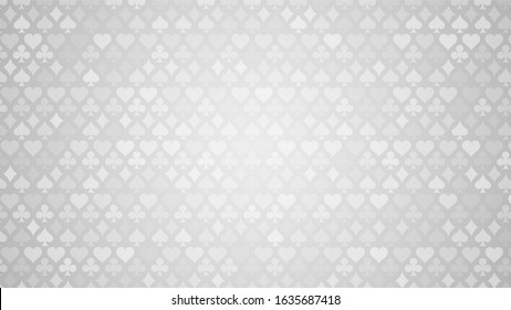 Colorful background with card suits. Picture spades, hearts, diamonds, clubs. Background for gambling, casino advertising. Vector illustration.