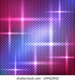 Colorful background of circles with stars. Vector illustration