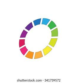 Colorful Background. Company Logo Design Vector
