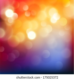 Colorful background with defocused lights - eps10 vector