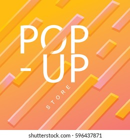 Colorful background design with rectangular shape/ Abstract background vector art/ Pop-up store lettering design