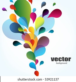 Colorful background with drops, vector