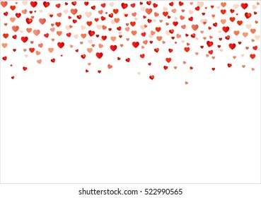 Colorful Background with Heart Confetti. Vector illustration EPS 10.