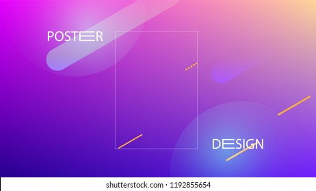 Colorful Background with Simple Geometric Shape. Holographic Colour Gradient. Cool Abstract Background. Vector Illustration.