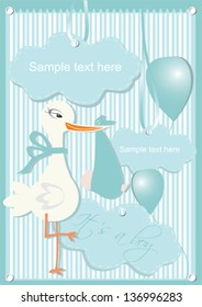 Colorful balloons Gift cards for baby boy