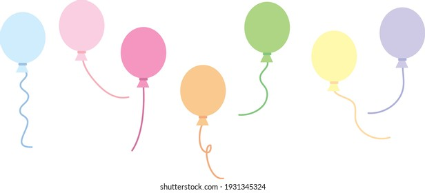 Colorful balloons side by side