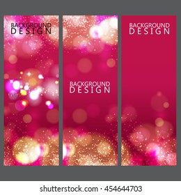 Colorful banner and background design
