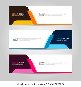 colorful banner design template. banner background