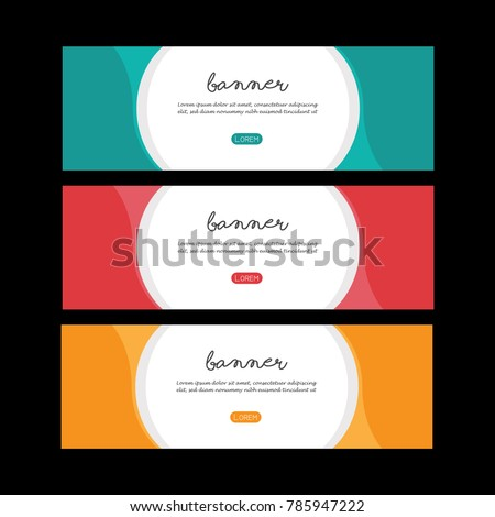 colorful banner set design simple poster stock vector royalty free