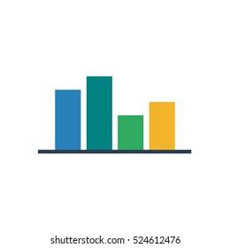 Colorful bar graph chart vector illustration icon