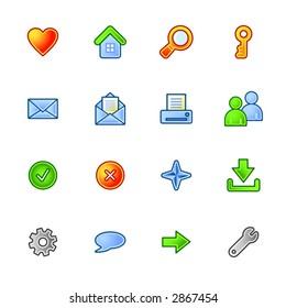 colorful basic web icons