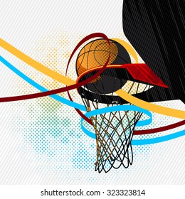 Colorful basketball background