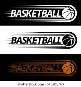 colorful basketball court logo,high-speed ball,vector illustration