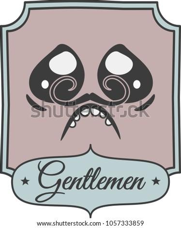 Colorful Bathroom Sign Newspaper Style Gentleman Stock Vector Impressive Bathroom Sign Vector Style