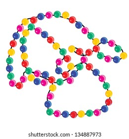 Colorful beaded necklace vector